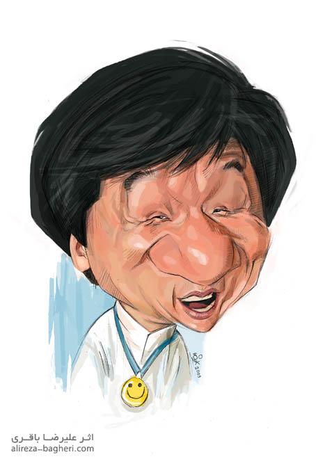 کاریکاتور جکی چان